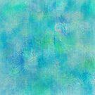 Aqua Batik Print by SandAndChi