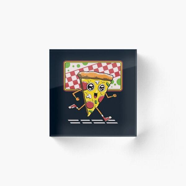 Pizza Run Acrylic Block