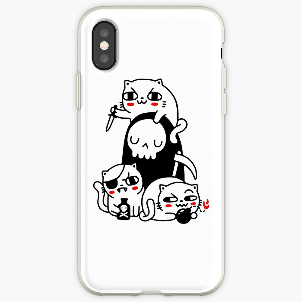 Death Is A Cat Person iPhone Case & Cover