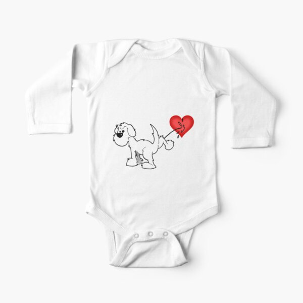 DOG - at least the dog likes me ! Long Sleeve Baby One-Piece