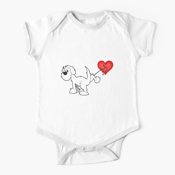 DOG - at least the dog likes me ! Short Sleeve Baby One-Piece