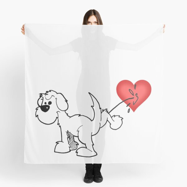 DOG - at least the dog likes me ! Scarf