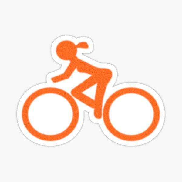 Bike Girl Sticker
