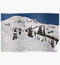 Snowshoeing at Paradise, Mt. Rainier National Park Poster