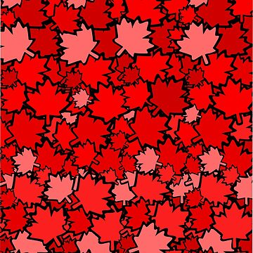 Red Maple Leafs  by GR8DZINE