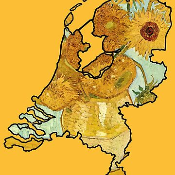 Van Gogh Sunflowers – Netherlands (Famous Dutch Painting) by From-Now-On