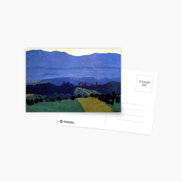 Felix Vallotton -  Landscape in the Jura Mountains (new color editing) Postcard