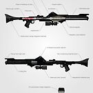 Anatomy of the DC-15 Blaster Rifle by nothinguntried
