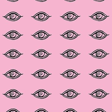 Evil Eyes Pink #1 #drawing #decor #art  by anitabellajantz