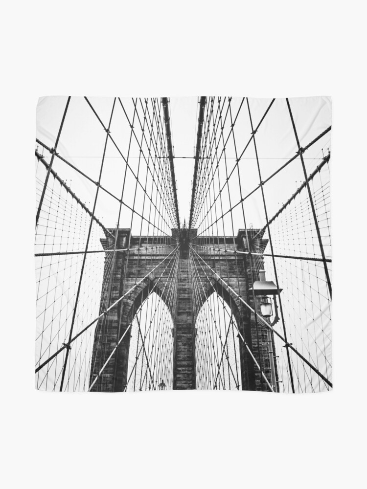 Alternate view of Brooklyn Bridge Web Scarf