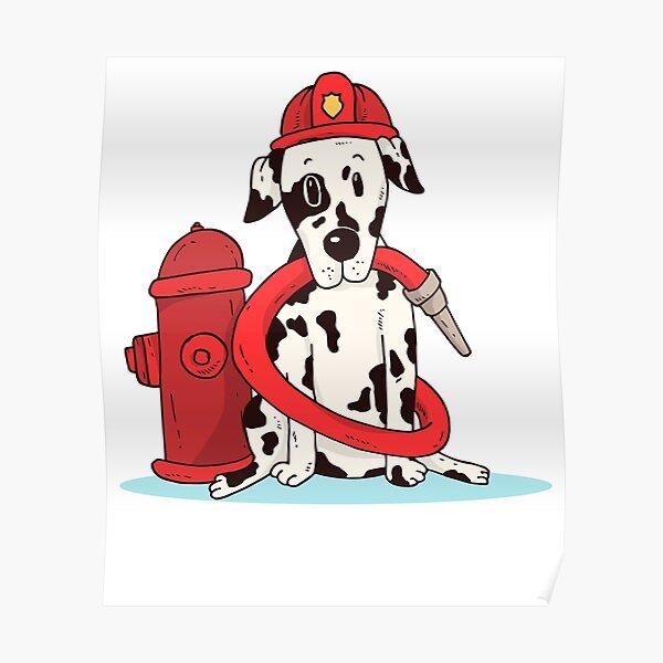 Dalmatian Firefighter Poster
