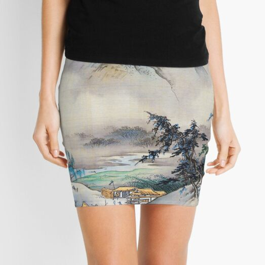 Landscape (Restored Japanese Artwork) Mini Skirt