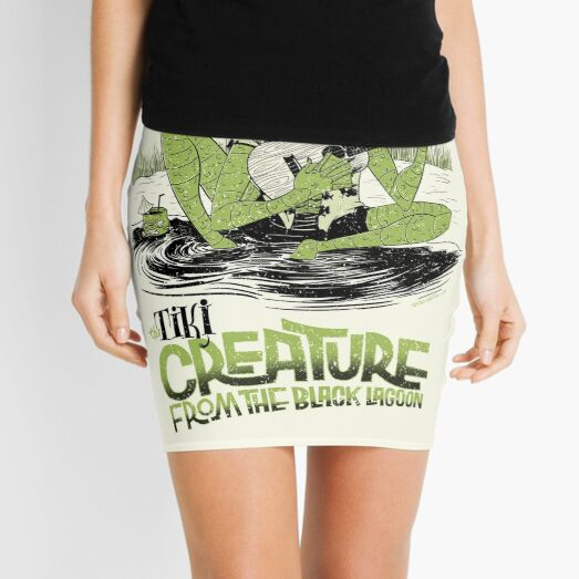 the tiki creature from the black lagoon Mini Skirt