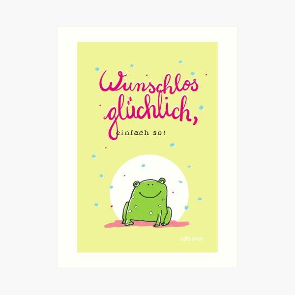 Frog luck Art Print