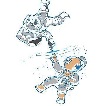 Astronauts water and space by schnibschnab