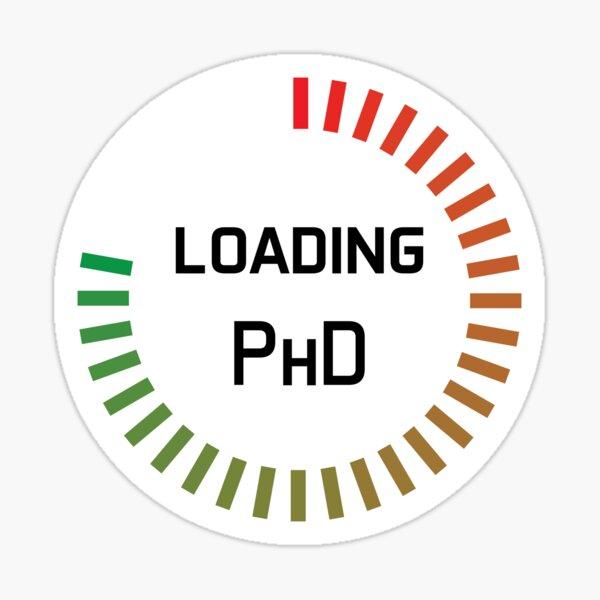 PhD study in progress - loading bar in colour Sticker