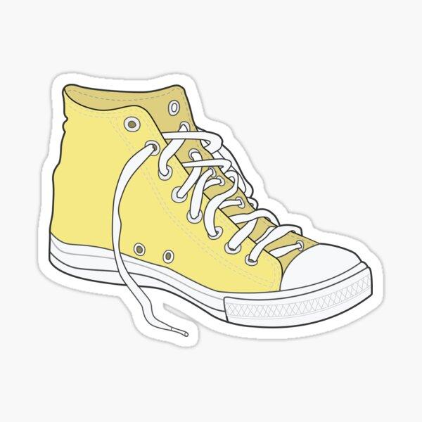 Retro Popular Yellow Shoe  Sticker