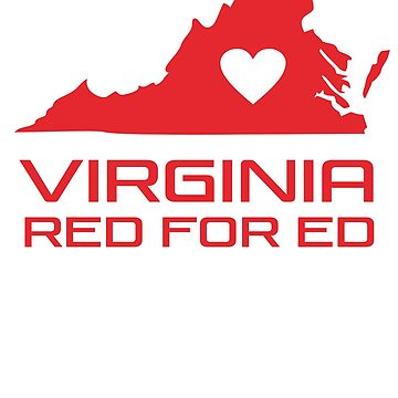Red for Ed Virginia by ShamanShore