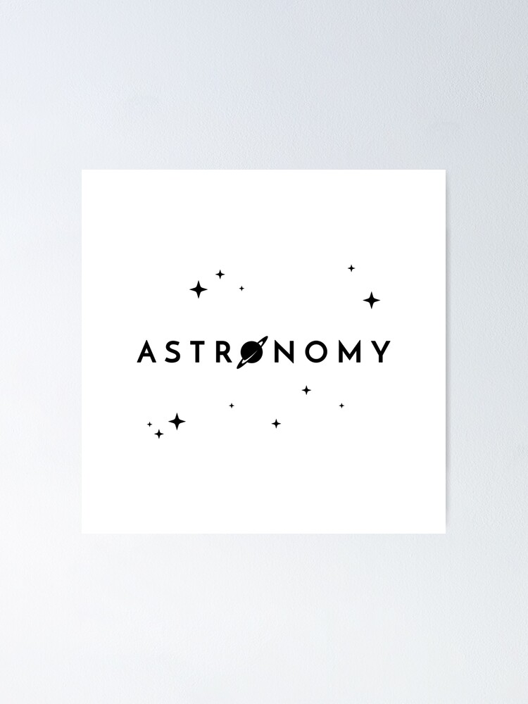 Alternate view of Astronomy (Inverted) Poster