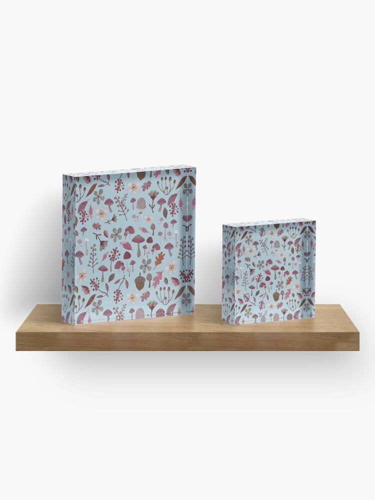 Alternate view of woodland winter pattern Acrylic Block