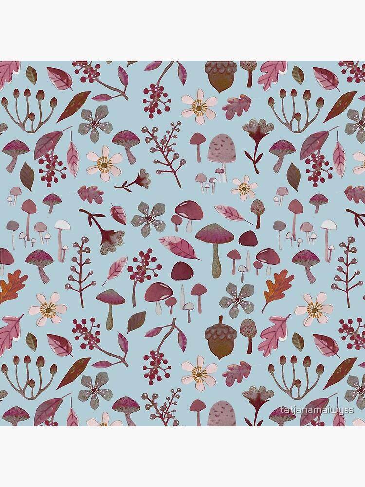 woodland winter pattern by tatjanamaiwyss