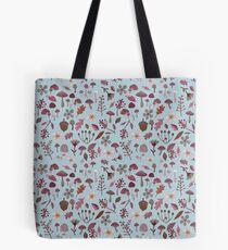 woodland winter pattern Tote Bag