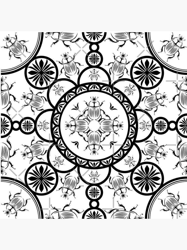 Skarabäusfliesen-Linienmuster von pASob-dESIGN