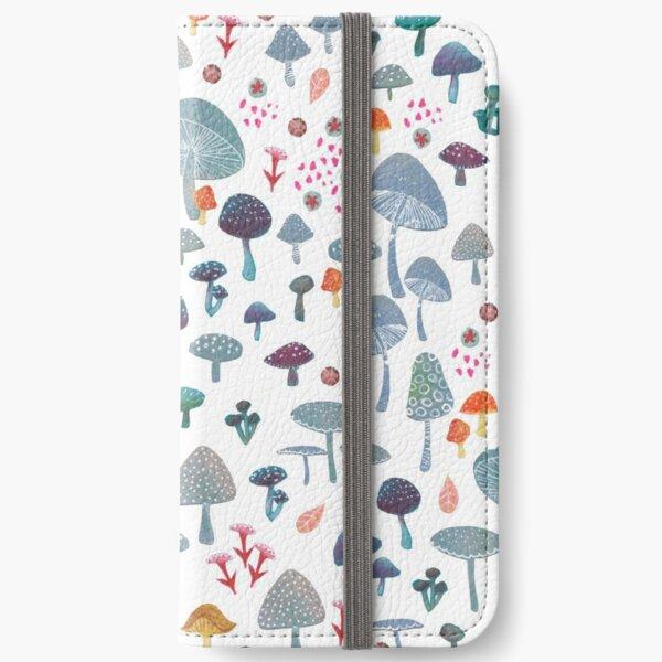 scattered mushroom pattern iPhone Wallet
