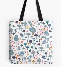 scattered mushroom pattern Tote Bag