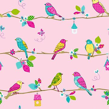Pink Birds by procrest