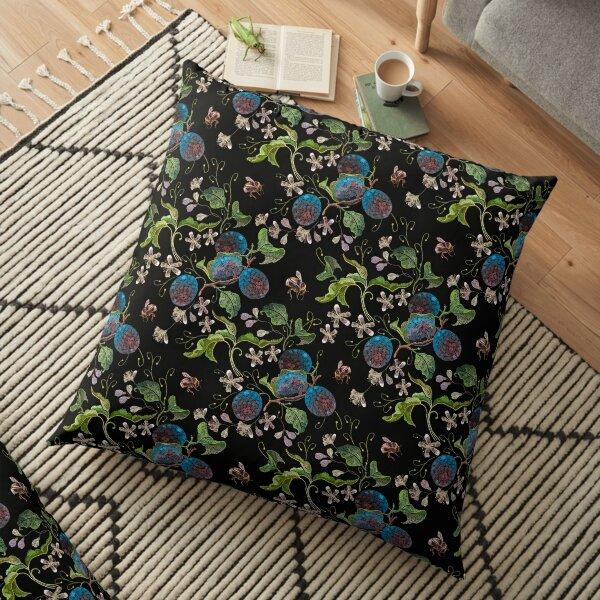 Plum and flowers  Floor Pillow