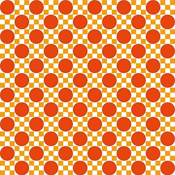 Circles and squares mosaic pattern orange by aapshop