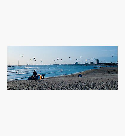 Kite Surfers take over the sky of Melbourne #1 Photographic Print
