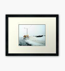 Behind a Snowplow Framed Print