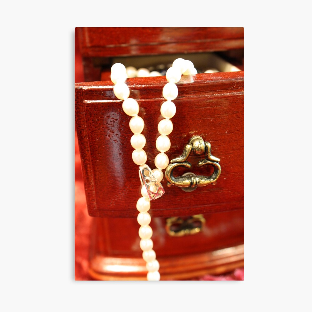 Drawer of Pearls Canvas Print