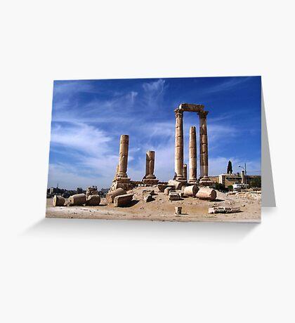 Ruins in Amman, Jordan Greeting Card