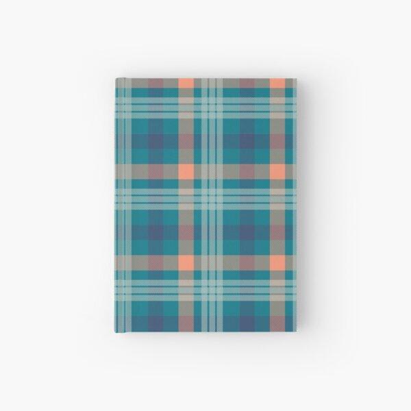 Tartan Pattern Seamless Blue-Green-atomic tangerine #5 Hardcover Journal