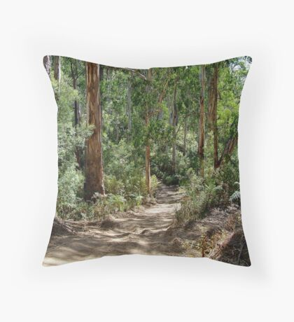 Newcomb Spur Track,Otway Ranges. Throw Pillow