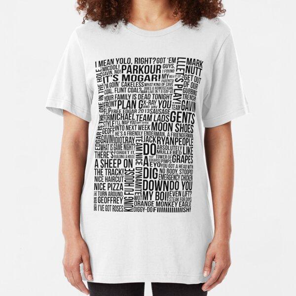 Achievement Hunter Quotes (Clean Version) Slim Fit T-Shirt