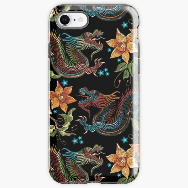 Dragons and narcissus iPhone Tough Case