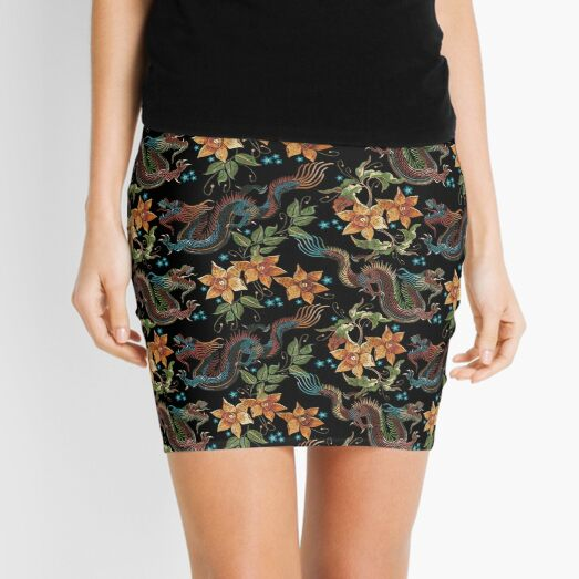 Dragons and narcissus Mini Skirt