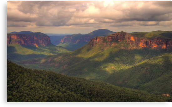 Student Of Light - Govetts Leap, Blue Mountains World Heritage Area - The HDR Experience by Philip Johnson