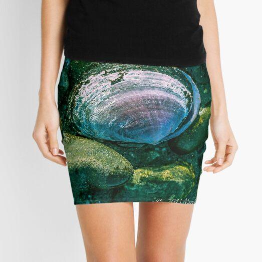 Seashells and Mossy Rocks  Mini Skirt