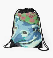 Blue Zoe Drawstring Bag
