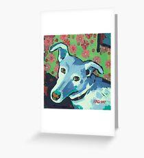 Blue Zoe Greeting Card