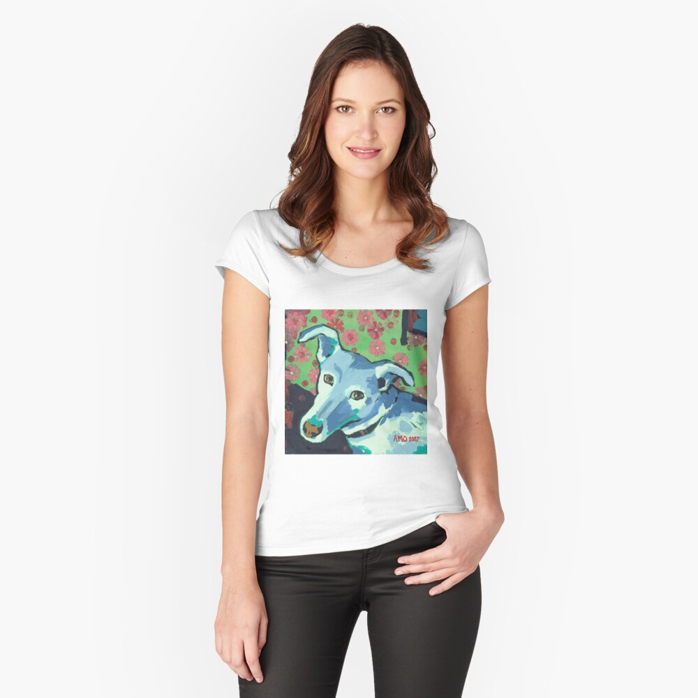 Blue Zoe Fitted Scoop T-Shirt