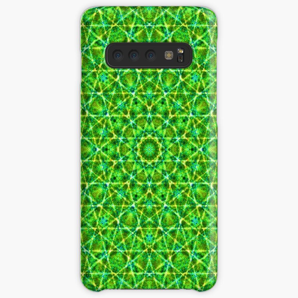 Grünes Netz Kaleidoskop Hülle & Klebefolie für Samsung Galaxy