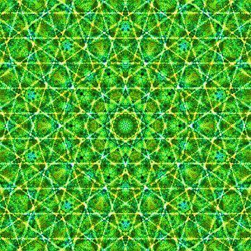 Grünes Netz Kaleidoskop von pASob-dESIGN
