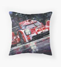 2015 Le Mans 24H Porsche 919 Hybrid Throw Pillow