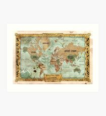 Map of the Carlyle Expedition by Olivier Sanfilippo Art Print